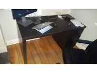 IKEA Malm Desk w/ drawers in black-brown