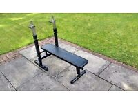 Bench Press, barbells and 190 kg of weight plates