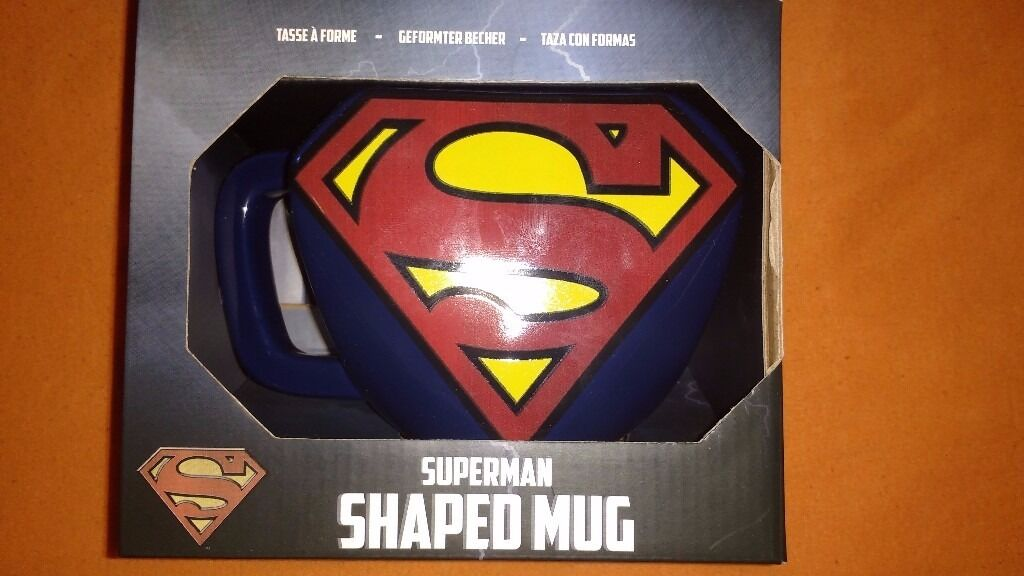 Superman Shaped Mugin Southside, GlasgowGumtree - Superman Shaped Mug Brand new, unopened/sealed. Large mug branded with Supermans iconic logo. See pictures provided. Price £6 Serious enquiries only please. Looking for quick/immediate sale. If interested dont hesitate. Will endeavour to reply...
