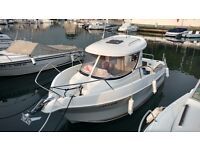Arvor 190 Reg 2010 Fishing Boat Pilot House VW Diesel with Electric Anchor Just serviced