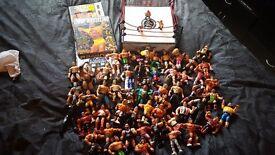 Offers! Wrestling lot! Over 50 figures & ring. Vintage 90's & recent