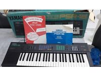 Electronic keyboard in box with learning book and instructions, psr16 yamaha