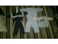 Adidas tracksuits x2 and jumper.3-6 month