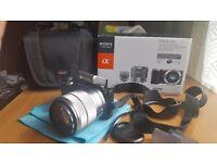 Like NEW ! Boxed Sony Alpha NEX-5NK 16.1 MP Digital Camera – Black 18-55mm F3.5-5.6 OSS