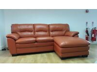 Orange Leather Sofa Sofas Armchairs Couches Suites For Sale Gumtree