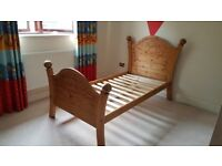 Single Pirate carved wooden bed