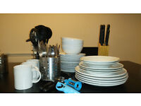 Dishes, cutlery, accessories