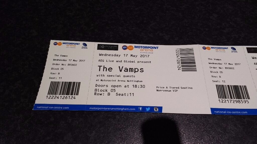 The vamps x2 meet greet tickets nottingham wed may 17th 2017 in the vamps x2 meet greet tickets nottingham wed may 17th 2017 m4hsunfo