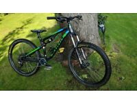 Medium Upgraded Kona Precept 130 Full Suspension Mountain Bike
