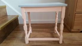 chalk paint vintage side table bedside table