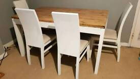 Farm house upcycled table and chairs