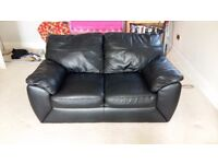 Three seater and two seater leather settees / couches