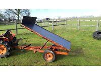 Kubota tractor hydraulic tipping trailer - 1ton