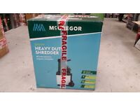 McGregor Heavy Duty Impact Shredder - 2500W RRP 129.99