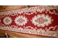 Red burgundy runner rug length 88 inch width 27 inch Persian style