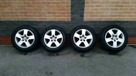 Audi VW alloys 16 with new tyres 205 55 16