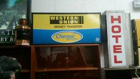 Western Union shop sign