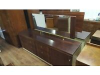 6 Drawer Vintage Dressing Table With Mirror