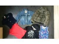 6 items Girls clothes bundle denim jacket top size 6-7 years