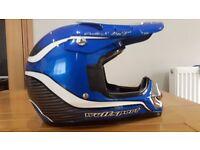 Motocross childs Helmets Blue Wulf sport and Demon