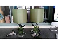 Pair a green lamps