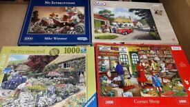 1000 Piece Jigsaw Puzzles £3.00 each