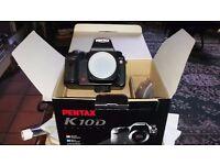 Pentax K10 Digital SLR camera.