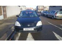 Honda Civic SE Executive Auto 1.6 5dr Black 2 keeper 85K Mot Feb 19- £980 ONO