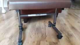 Adjustable foot stool .