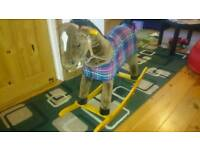 The Pony stable rocking horse with sound great gift toy