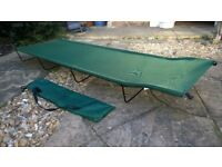 Camp Bed, single, 180x60cm, 4 removable legs, pack down to carry bag