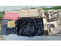 BARGAIN 15 preloved handbags! LOT B- 1 FCUK, 1 NEXT and 12 others of varied design.
