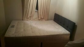 Double bed and mattress for sale in very good conditions.