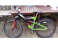 Carerra Banshee Mens 24 Speed Dual Suspension Mountain Bike