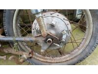Honda CB 72 77 CB72 CB77 REAR WHEEL £140