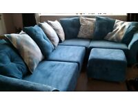 DFS corner sofa in teal (paid extra for cushion fillings) - Must be collected Thursday