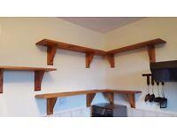 Teak Wood Kitchen Shelves for £5 only.