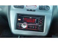 Leon/Altea/Toledo - JVC KW-DB60AT Double Din Car Stereo (DAB Tuner) inc. fitting kit