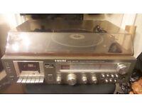 Vinatage Binatone record player, cassette and radio.