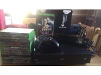 Xbox one 500gb with 14 games,controller and kinect