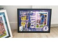 N'golo Kante hand signed A2 framed photo display with Coa