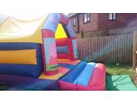 Bouncy castle with integrated bluetooth speaker
