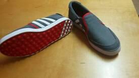 Adidas canvas golf shoes