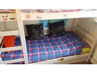 Bunk beds, with 2 storage drawers, small single size.