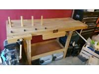 Sip 01441 oak wooden work bench