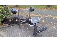 MAXIMUSCLE WEIGHTS BENCH WITH BARS & 50KG