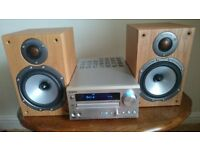 ONKYO CR-515DAB Stereo with Monitor Audio Bronze BR1 speakers