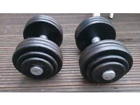 Pair of 37.5kg Dumbbells