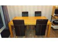 large dining table and 4 free chairs