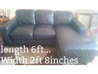 Sofa, Next sofa, L Shape 3 seater Leather.